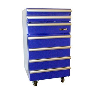 Versonel Blue Portable Toolbox with Mini Refrigerator