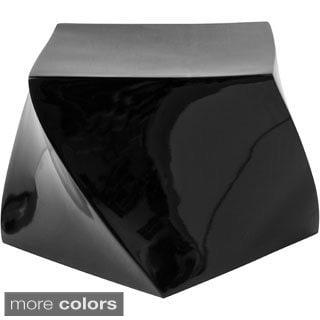 Cube High Gloss Twisted Ottoman