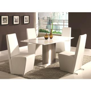 Chintaly Cynthia Surf Marble Top 5-piece Dining Set