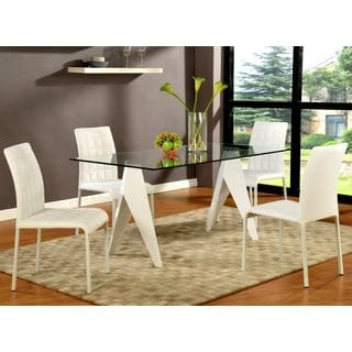 Chintaly Fielding Contemporary Split Leg Dining Set