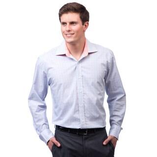 Bristol & Bull Men's Blue and Coral Woven Shirt
