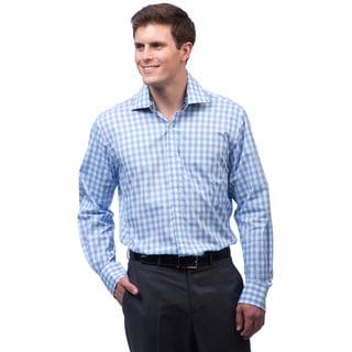 Bristol & Bull Men's Blue Plaid Woven Shirt