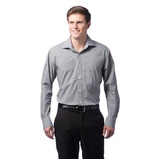 Bristol & Bull Men's Black Checkered Plaid Woven Shirt
