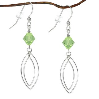 Jewelry by Dawn Sterling Silver Peridot Green Double Marquis Earrings