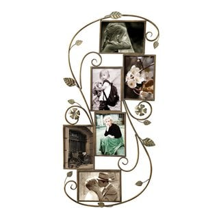 Adeco 6-opening Decorative Iron Wall-collage Photo Frame