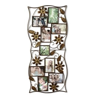 Adeco 9-opening Iron Collage Wall Hanging Photo Frame