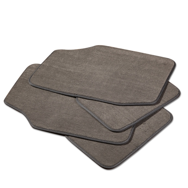 Adeco Grey 4-piece Car/Vehicle Carpeted Floor Mats