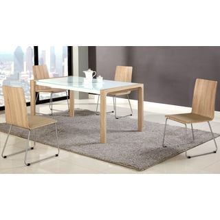 Chintaly Alicia Wood Panel Extendable Dining Set