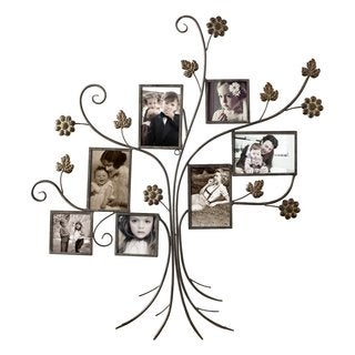 Adeco 7-opening Iron Collage Wall-hanging Photo Frame