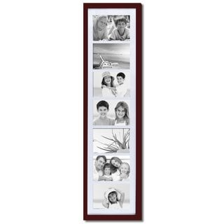 Adeco Walnut Matted Wood 7-opening Collage Photo Frame