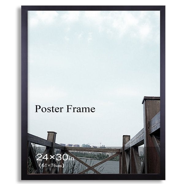 adeco black 24inch x 30inch poster picture frame with