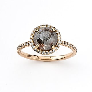 Diamonds for a Cure 18k Rose Gold 2 1/8ct TDW Brown and White Diamond Halo Ring (H-I, SI1-SI2)