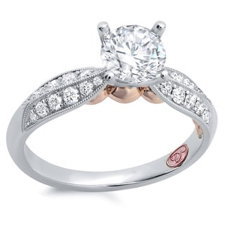 Demarco 18k White Gold 1ct TDW Designer Diamond Engagement Ring (F-G, SI1-SI2)