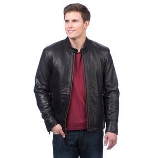 Andrew Marc Men's Leather Moto Jacket