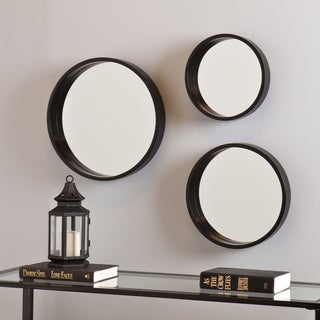 Holly and Martin Black Daws Wall Mirror 3pc Set