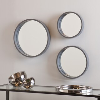 Holly and Martin Daws Cool Gray Wall Mirror 3pc Set