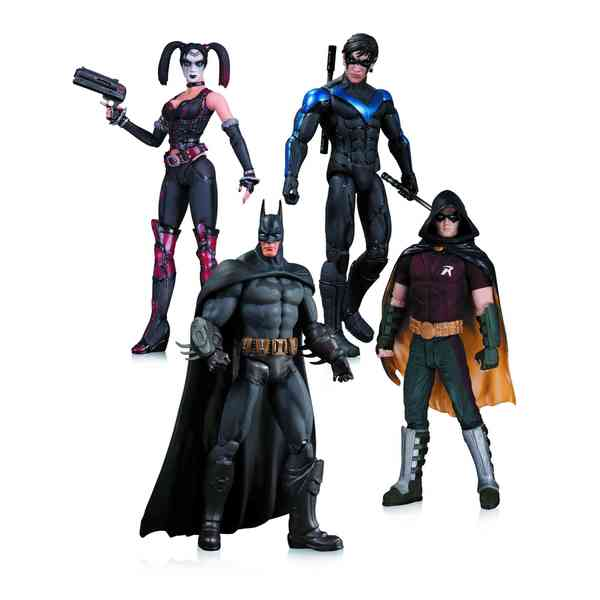 Arkham City Harley Quinn, Batman, Nightwing, and Robin 4 Pack 13897354