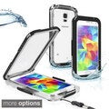 INSTEN with Lanyard Snap-on Clear Waterproof Hard Case for Samsung Galaxy S5/ SV
