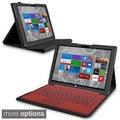 INSTEN Keyboard Pouch Pad Stand Leather Case Cover for Microsoft Surface Pro 3