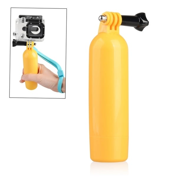 INSTEN Yellow Floating Hand Grip Monopod Mount for GoPro Hero 1/ 2/ 3/ 3+