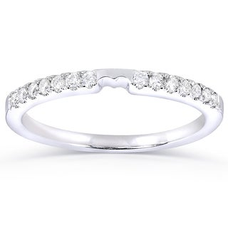 Annello 14k White Gold 1/6ct TDW Diamond Wedding Band Ring (H-I, I1-I2)