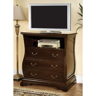 Furniture of America Rowland Dark Walnut Media Chest