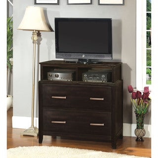 Furniture of America Aiza Modern Espresso Media Chest