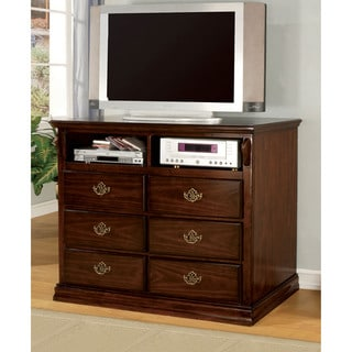 Furniture of America Weston Glossy Dark Pine Media Chest