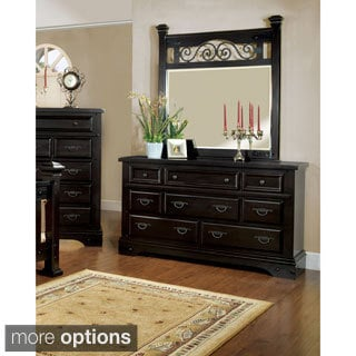 Furniture of America Marlo 2-piece Dresser and Mirror Set