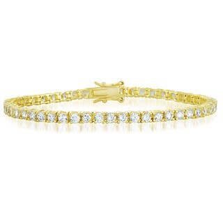 Collette Z Goldplated Sterling Silver Cubic Zirconia Tennis Bracelet