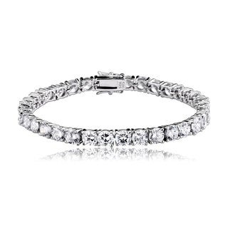 Collette Z Sterling Silver Cubic Zirconia 5mm Tennis Bracelet