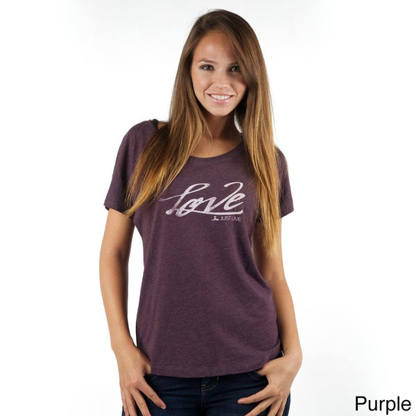 Just Live Women's Loose Dolman Sleeve 'Love' Tee