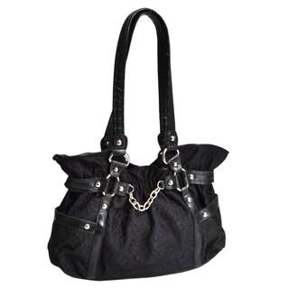 Parinda 'Cosmos' Large Black Cinched-body Handbag