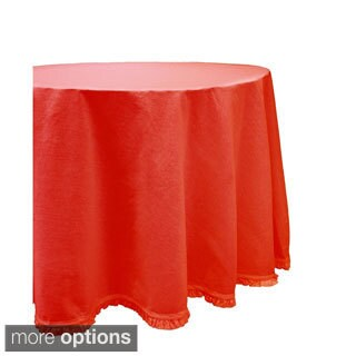 Red or Yellow Ruffle Cotton Tablecloth (India)