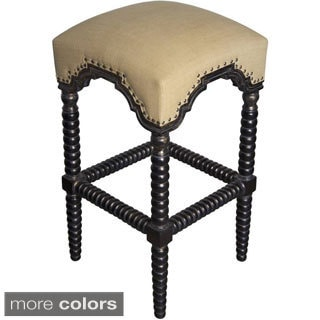 Ridged Leg Upholstered Bar Stool