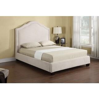 Emerald Lilian Vanilla Chenille Upholstered Bed Set