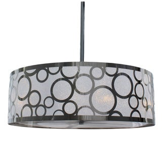 Round Chrome Cirque 4-light Chandelier