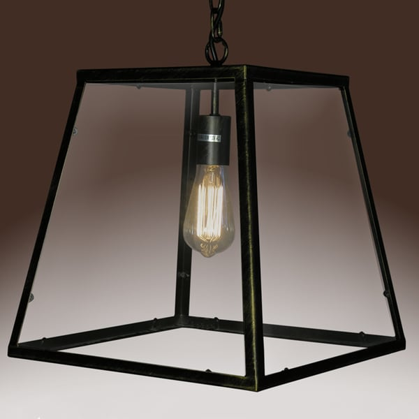 Minerva 1-light Black Edison Lamp with Bulb