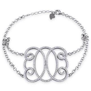 M by Miadora Sterling Silver Cubic Zirconia Bracelet