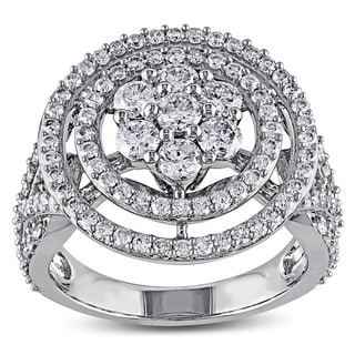 Miadora 14k White Gold 2ct TDW Diamond Cocktail Ring (G-H, I1-I2)