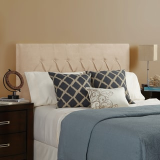 Humble + Haute Hampton Velvet Sand Full Diamond Tufted Upholstered Headboard