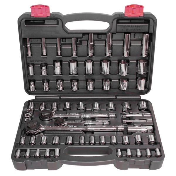 Speedway 64-piece (1/4, 3/8, and 1/2-inch) Socket Set