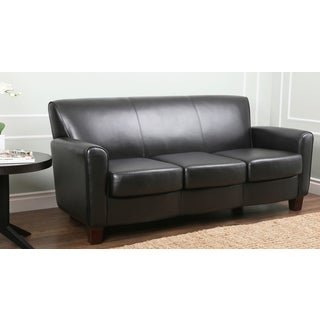 Abbyson Living Easton Black Leather Sofa