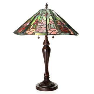 Tiffany-Style Rosalia Cone-shaped Table Lamp