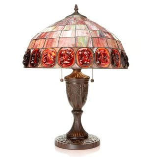 Tiffany-style Scarlet Turtleback Table Lamp