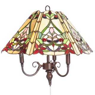 Tiffany-style Ramona 3-light Hanging Lamp
