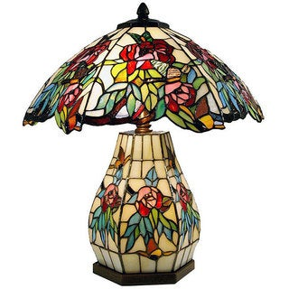 Lumis Tiffany-style Double Lit Table Lamp