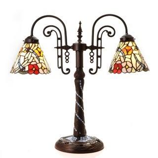 Tiffany-style Mosaic Dragonfly Table Lamp