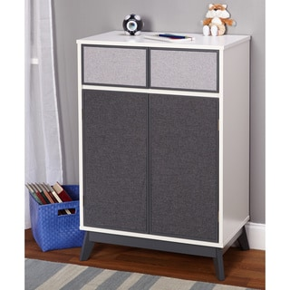 Simple Living Couture Antique White/ Grey Storage Cabinet