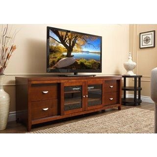 Abbyson Living 72-inch Walnut Wood TV Console